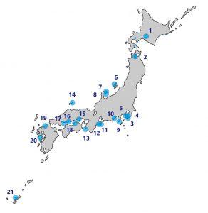JAMBIO member map2019